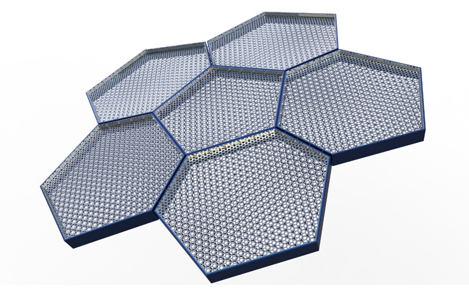 Hexagonal Metal Panels