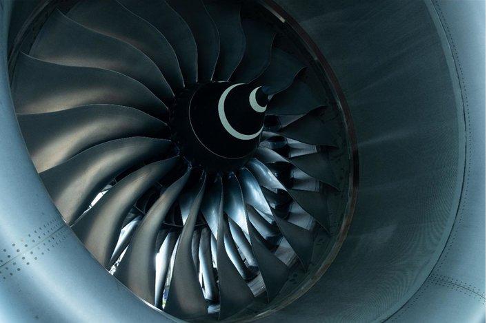 Fan of A Jet Engine